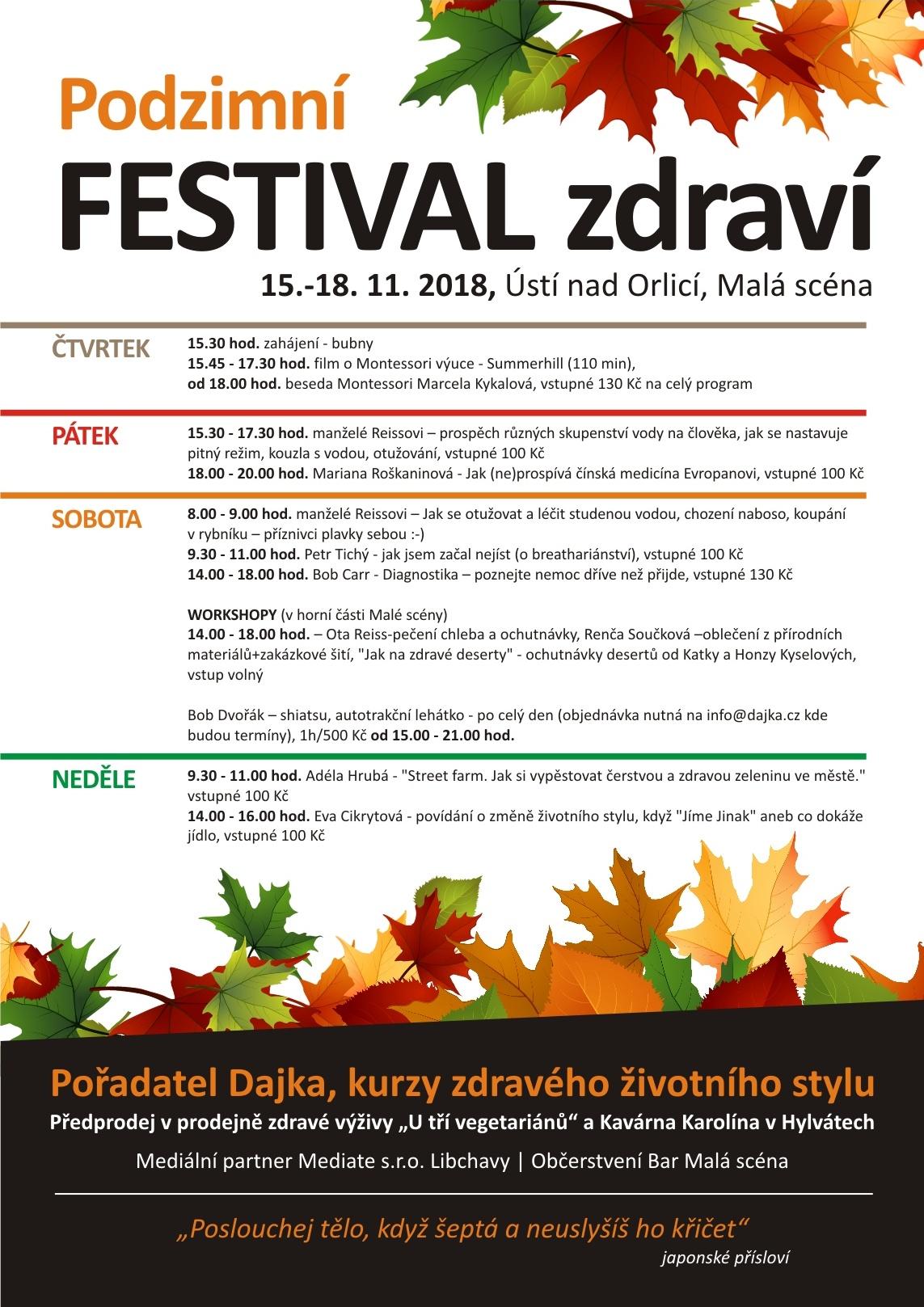 Podzimní festival zdraví