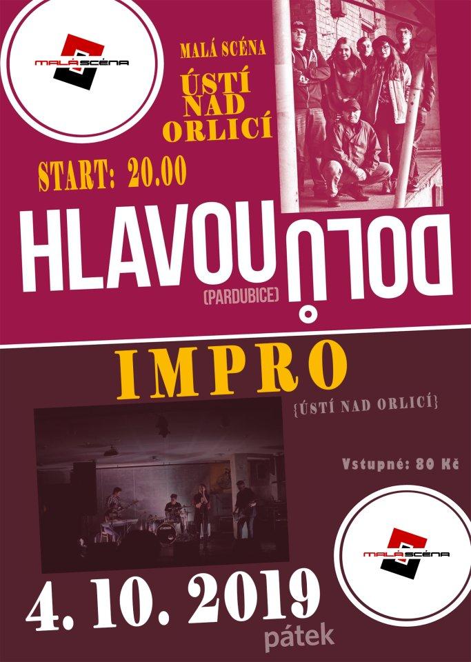 Koncert kapel Hlavou Dolů a Impro